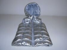 Girl's Youth H & M Bright Silver Vest Outerwear Lined US 4-6Y / EUR 110/116