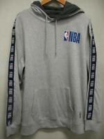 Official NBA Logo Basketball Heather Gray Hoodie Hoody Pullover Sweatshirt Mens