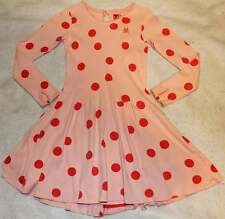 Boutique NO ADDED SUGAR Crocodile Tiers Pink Red Dot Bustle Dress 8 9 10