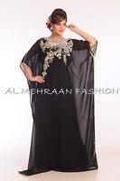 TOP MODERN KHALEEJI THOBE MOROCCAN ARABIC HAND ZARI WOMEN CAFTAN DRESS