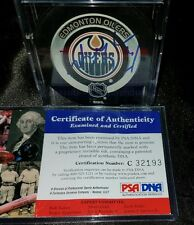WAYNE GRETZKY hand SIGNED EDMONTON OILERS official game PUCK HOF with PSA/DNA