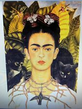 FRIDA KAHLO 24X36 POSTER ARTIST WOMAN FEMALE GREAT MEXICO SELF PORTRAIT EYEBROWS