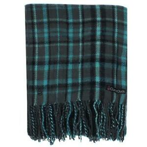 Cuddl Duds Green Plaid Blanket Soft Throw Bedding  0033