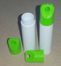 100 NEW Empty WHITE LIP BALM Chapstick Tubes containers WITH GREEN LANYARD CAPS!