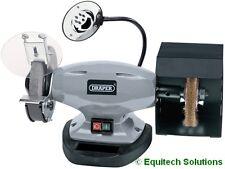 "Draper Tools 14271 150mm 6"" Bench Grinder Stone + Wire Wheel + Work Light 370W"