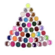 45 Colores Glitter Maquillaje Sombra De Ojos, Uñas Arte, Pigmento Brillo, Polvo