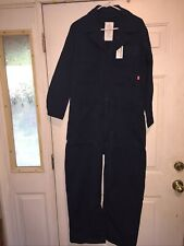 US Navy Flame Resistant Utility Coveralls Navy Blue Size 42S NEW.. Free Shipping