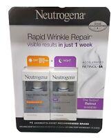 Neutrogena Rapid Wrinkle Repair Day + Night, 2 -1 oz bottles New Exp 11/2019