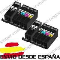 10 CARTUCHOS DE TINTA COMPATIBLES NonOem PARA CANON PIXMA MG5150 MG5250 MX880
