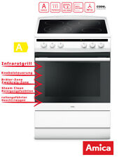 Amica SHC 11662 W Weiß Standherd 60cm Elektro Backofen Grill Heißluft SteamClean