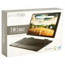 """Smartab with WiFi 10.1"""" 2-in-1 Touchscreen Tablet PC Featuring Android Op 32GB"""