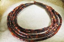 Gerda Lynggaard For Monies Necklace Copenhagen 5 Strand Horn Hook Tube Beads