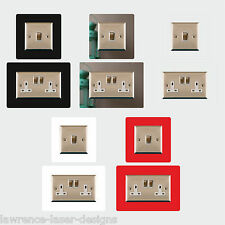 Light Switch, Single, Double Plug Surround 3mm Finger Plate - Buy 2 Get 1 FREE