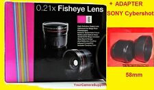 0.21x Fisheye Lente +Adattatore + Cappuccio Sony Cyber-Shot Dsc - Hx1 H7 H9 H50