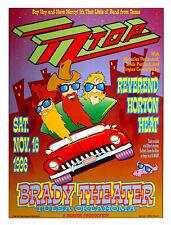 Zz Top Poster 1996 Original Tulsa Ok Concert Art Print by David Dean