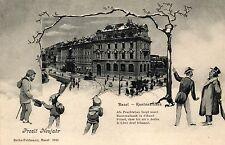 Basel, Kantonalbank, Neujahr AK, um 1900/10
