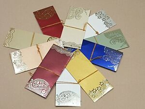 Luxury Designer FANCY ENVELOPE GIFT WEDDING MONEY For OCCASIONS WALLET COLOURFUL