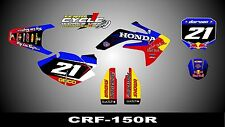 HONDA CRF 150R SEMI CUSTOM GRAPHICS KIT TORO
