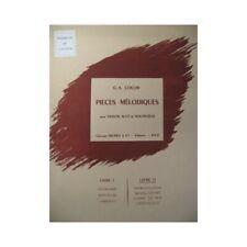 COLLIN C. A. Pièces mélodiques 2 Violon Alto Violoncelle partition sheet music s