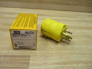 Hubbell HBL4773VY Valise Twist-Lock Plug