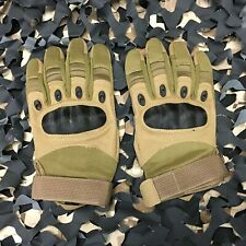 New Warrior Paintball Full Finger Carbon Knuckle Gloves - Olive - Medium