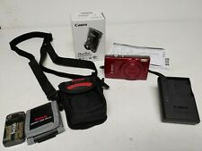 Canon PowerShot ELPH 190 IS Red Camera with 10x Optical Zoom w case Accessories