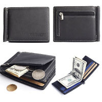 Slim Men's Leather ID Credit Card Holder Clutch Bifold Coin Purse Wallet Pocket