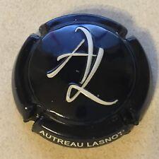 Capsule de champagne AUTREAU-LASNOT estampée (bleu-nuit et blanc)