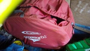 Gelert Quickpitch tent. red. used, will need cleaning.