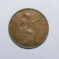 1919, Large Penny Great Britain Very High Value Vintage Coin