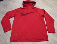 NICE Nike Therma-Fit KO Camo Swoosh Red Hoodie Hooded Sweatshirt Men's size XL