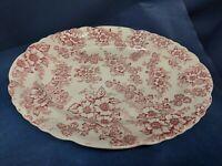 VintageTaylor Smith&Taylor Pink Dogwood Fairway Oval Serving Platter Circa:1944