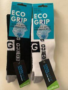 "Grip Socks COOLMAX® ""Eco Grip"" Sportfunktionssocken weiß Gr 42-47 NEU + OVP"