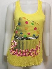 NEW CUPCAKE SWEET DESSERT TUNIC RACERBACK TANK TOP URBAN KAWAII SMALL