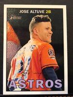 2016 Topps Heritage Chrome/999 #THC-470 Jose Altuve Houston Astros Baseball Card