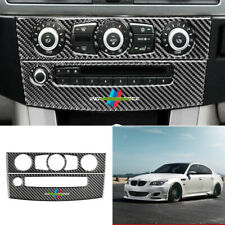 For BMW 5 Series E60 525 08-10 carbon fiber console AC switch control frame trim
