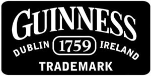 Vintage Retro GUINNESS Irish STOUT Beer Man Cave Pub Shed Metal Wall Door Sign