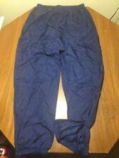 Nike Nylon Pants Track Running Jog Blue Mens XL Zipper Leg Swoosh Unlined
