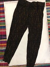 NWOT COTTON ON BODY cheetah Leopard thin lightweight Jogger PANTS large