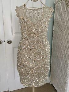 Parker Womens Montclair Sequin Dress Size 8