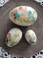 VINTAGE EASTER EGGS Echt Erzgebirge Easter/Rabbit Themed Paper Mache Nesting