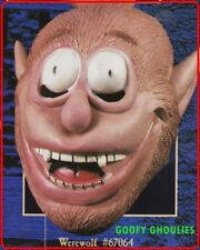 NW VINTAGE GOOFY GHOULIES WEREWOLF MASK  Latex Prop MASK Illusions Rubies #67064
