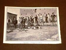 Terremoto in Calabria 23 ottobre 1907 Ferruzzano Trasporto dei cadaveri