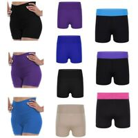Kids Girls Hot Pants Shorts Gymnastic Dance Sports Lycra Bottoms Activewear