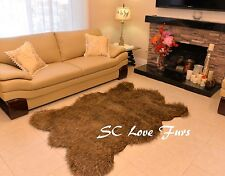 3' x 5' Bear Grizzly Bearskin Faux Fur Rustic Accents Area Rugs Decors