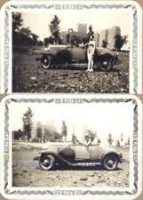Young Couple Driving 1930 Chevrolet Rumble Seat Roadster Toots Tire Cover Photos