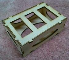 """Laser Cut 1/8"""" Birch Plywood Triple Standard STD Servo Box/Tray, U-Assemble"""