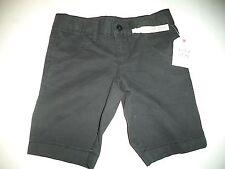 Size 4 Boys Black Soot Chino Bermuda Adjustable Waist Shorts