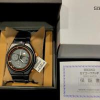SEIKO SCED053 spirit smart GIUGIARO Wristwatch Men 7T12 Gray Orange NEW JAPAN