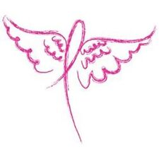 Wings Ribbon  Cancer Tshirt    Sizes/Colors